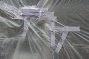 taped white plastic