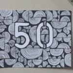 Drawing: 50th birthday card