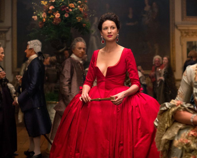 Claire Fraser's red dress