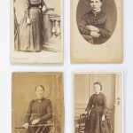 four ladies on vintage photos