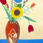 Art Deco vase with flowers