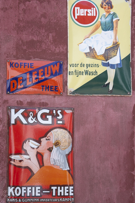 Old advertisements of coffee and washing powder
