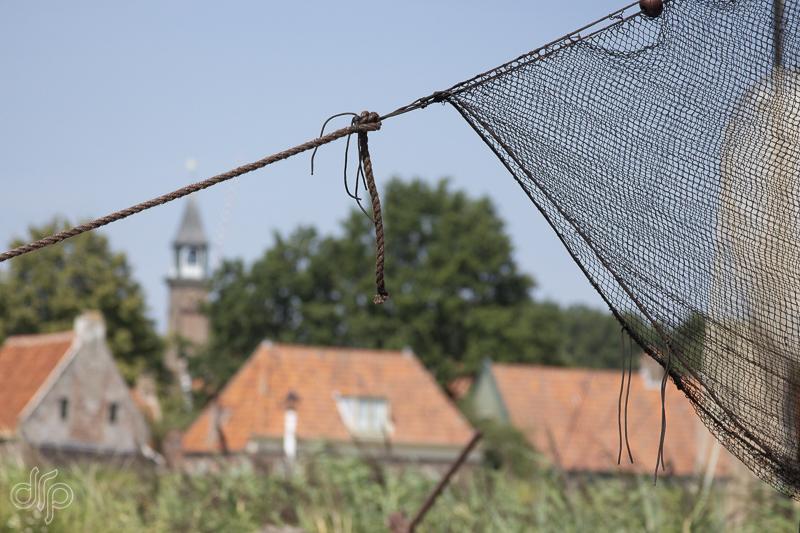 Zuiderzeemuseum old village and church steeple