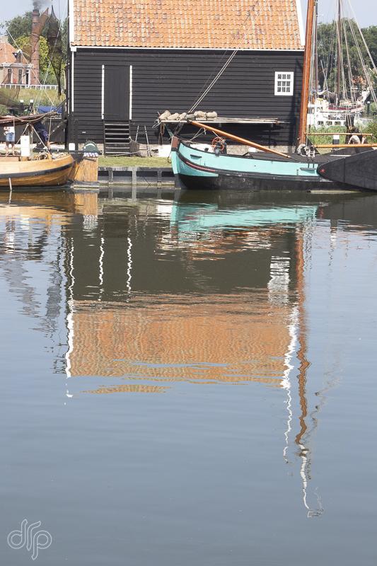 Zuiderzeemuseum reflected fishing boats