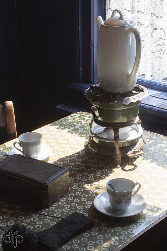 Zuiderzeemuseum house interior with teapot