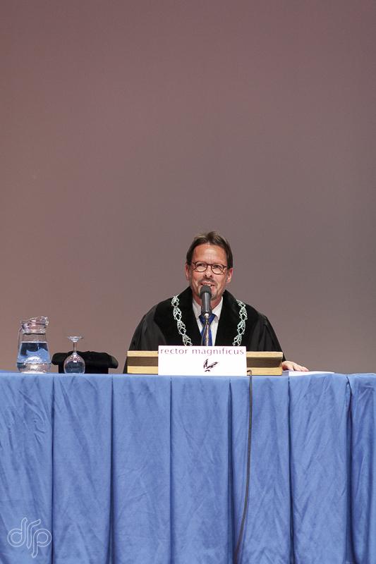 Professor Van den Brink in lieu of the Rector