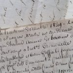 antique french letter dated 1849