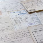 French vintage receipts and pages of antique deeds II